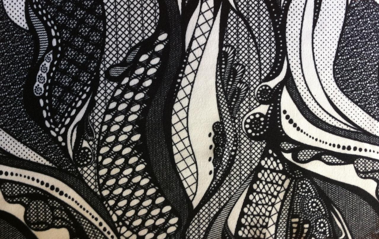 poly knit print